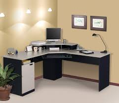 chic l shape of best home office desk made wooden material with enhancing design chair in chic shaped home office