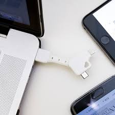 <b>2-in-1 USB</b> Charger Keychain | The Container Store