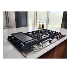 Gas Stainless Steel Cooktop Kcgs956ess Kitchenaid 36 Gas Cooktop With Griddle Stainless Steel