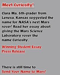 name the rover meet curiosity clara ma a th grader from lenexa kansas suggested the