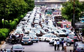 karachi a view of traffic jam at university road flare karachi a view of traffic jam at university road