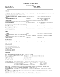 dance resume layout resume format  dancer