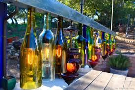 rainbow glass bottles backyard lighting httpbestpickrcom backyard lighting ideas