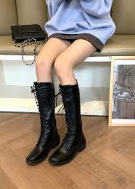 <b>Mid</b>-<b>Calf</b> Lace Up Boots | Autumn Women <b>Korean</b> Fashion - magic ...