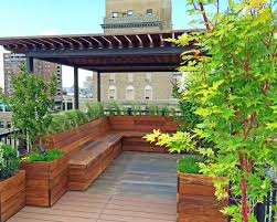 Small Picture NYC Custom Roof Deck Ipe Metal Pergola Ipe Bench Planters