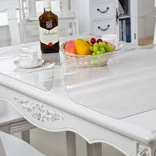 pvc tableclotare kitchen tablecloth oil glass cloth soft can be customizedh transparent waterproof tablew