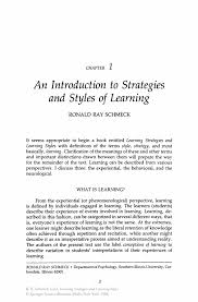 learning style essay learning strategies and learning styles springer