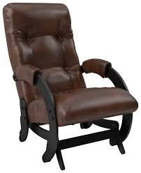 Купить <b>Кресло</b>-качалка глайдер Модель 68 Венге, экокожа Antik ...