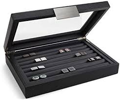 Glenor Co Cufflink Box for Men - Holds 70 Cufflinks ... - Amazon.com