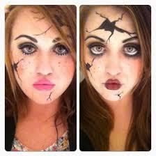 broken doll makeup tutorial