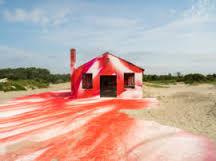katharina grosse colours decaying aquatics building into artwork art architecture aarchitect office hideki