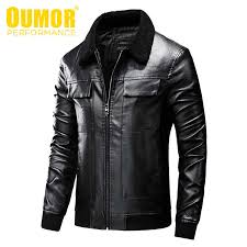 <b>Oumor Men Autumn</b> New Casual Vintage Biker Leather Jackets ...