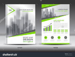 annual report brochure flyer template green cover design green cover annual report brochure flyer template creative design front and inside page layout