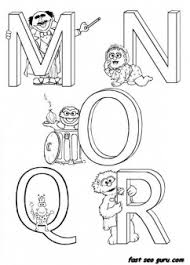 Small Picture Printable Alphabet Sesame Street coloring in worksheets