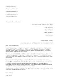 professional letter format template letter format  formal
