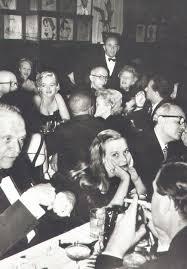 Marilyn at Sardi's restaurant, New York, celebrating Susan ...