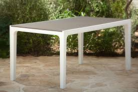 rectangular indoor outdoor dining keter harmony indoor outdoor patio dining table with modern wood style