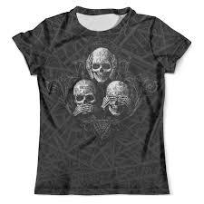 <b>Футболка</b> с полной запечаткой (мужская) Skulls..see no evil,hear ...
