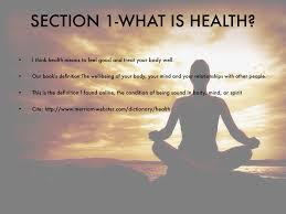 what is health by marianna osentoski section 1 what is health