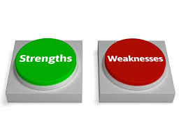 striving to be weak   strengths weaknesses buttons shows weak or strong
