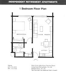 One Bedroom Apartment Floor Plan On Bedroom House Plans With In