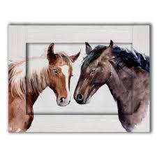 <b>Картина</b> Лошади Акварель с <b>Арт рамой</b> 60х80 — купить по цене ...
