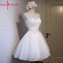 Real Photos Ivory Tulle Prom Dresses 2019 Scoop Appliques Lace ...