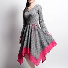 anghrakha <b>dress</b> - <b>matte black</b> & coral | kurthis | <b>Dresses</b>, Fashion ...