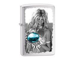 Купить <b>зажигалку</b> Zippo 28651 <b>Mermaid</b> and Blue Orb Brushed ...