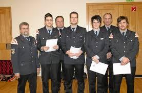 Die Wehrführung mit den Beförderten (von links) Abteilungsleiter Alfred Hettich, Michael Schneider, Gesamtkommandant Erich Dieterle, Thomas Hettich, ... - media.facebook.d055db76-c659-43ed-98af-d6003dafadc5.normalized