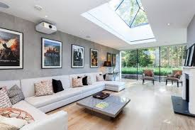 take advantage of light and views big living rooms