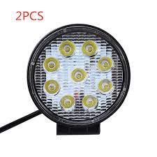 2pc 27W Car <b>LED</b> Work Light Bar <b>12V</b> 24V IP67 Spotlight Work ...