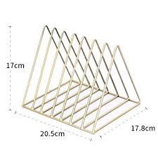 Smartcoco Nordic Style Iron Triangle Bookshelf 7 ... - Amazon.com