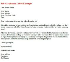 job acceptance letter example   learnist org