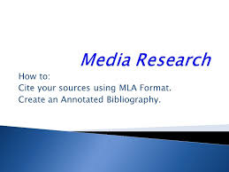 Mla Works Cited Template  format of works cited page mla creating      Annotated bibliography in apa style  th edition