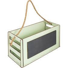 <b>Кашпо</b>-ящик с грифельной доской, 270х130х115 мм, <b>дерево</b>, цвет ...