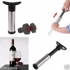 <b>STAINLESS STEEL</b> WINE Saver Vacuum Pump Sealer Preserver ...