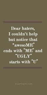 Hater Quotes on Pinterest | Jealousy Quotes, Swag Quotes and Two ...