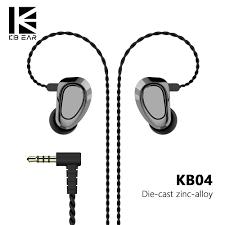 KBEAR <b>KB04</b> 1BA+1DD Hybrid Drivers In Ear <b>Earphone</b> IEMs <b>HIFI</b> ...