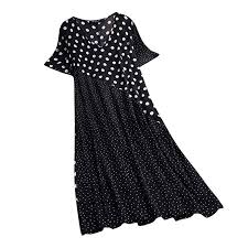 Rosatro Women Maxi <b>Dresses</b> Ladies <b>Fashion</b> Casual Linen <b>Dot</b> ...
