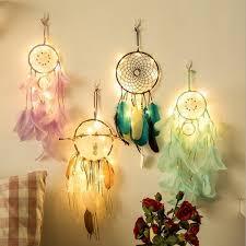 Handmade <b>Indian Dream Catcher Creative</b> Lighting <b>Feather Dream</b> ...