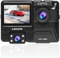 <b>Dual</b> Lens Dash Cam - <b>AZDOME</b> Built-in GPS 1080P Front: Amazon ...