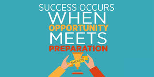 Image result for success occurs when opportunity meets preparation