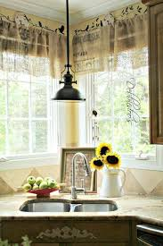 sink windows window love: burlap curtains and light over sinkcorner sink windows all around i