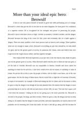 beowulf essay   fayli more than your ideal epic hero this is the end of the preview  sign up to access the rest of the document