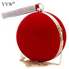 <b>YYW</b> Unique Velvet Iron On Lady Handbag Red Shoulder <b>Clutch</b> ...