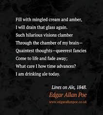 edgar allan poe quotes edgarallanpoe co uk drinking ale today edgar allan poe quote