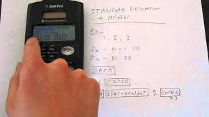 ti x pro basic statistics standard deviation and mean tutorial ti 36x pro basic statistics standard deviation and mean tutorial calculator expert