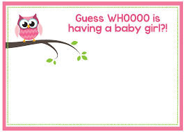 printable owl baby shower invitations