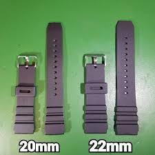 16mm <b>18mm 20mm</b> 22mm <b>Rubber Silicone</b> Diver Watch Strap Sport ...